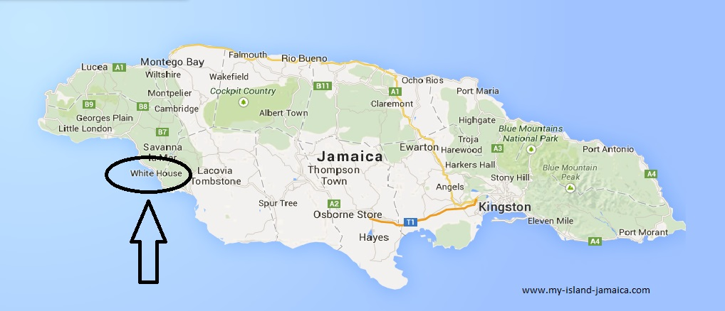 Wele To White House Jamaica: Where Is The White House Located On The Map At Slyspyder.com