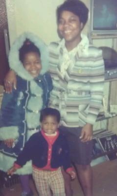 me and my mom Millicent Beckford and my lil brother
