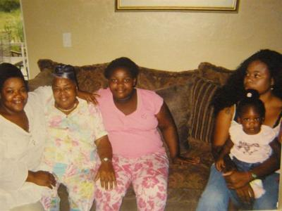 me, my grandm and my daughter in pink