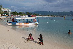 The famous Aquasol Beach in Jamaica