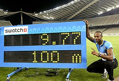 Asafa Powell of Jamaica with Record!