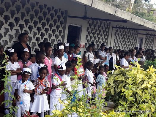careers_day_at_jamaican_primary_school_springfield_all_age_students_listening_to_presentation