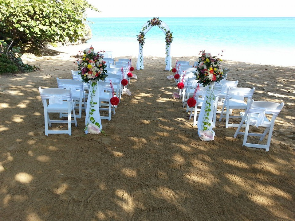 Caribbean beach wedding jamaica