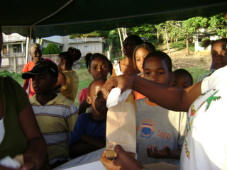 Kids At A Jamaican Charity Event