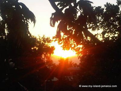 The majestic Jamaian sunset