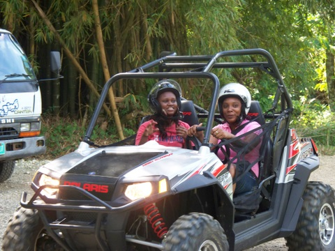 activities in jamaica - chukka adventures buggy - shevoneese coleman and holly allen