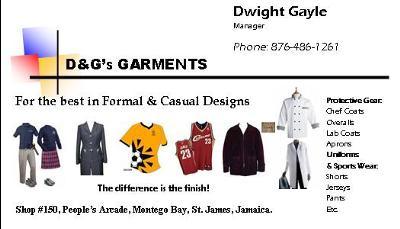D&G'S GARMENTS & TAILORING