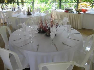 Wedding decor at Evansville Entertainment and Office Complex
