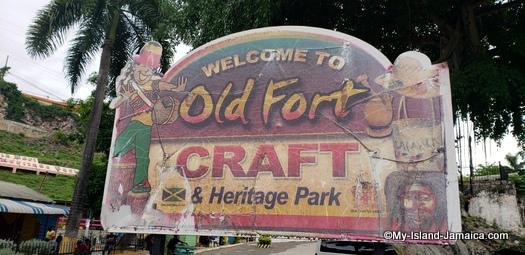 Montego Bay Old Fort Craft Market and Heritage Park Sign