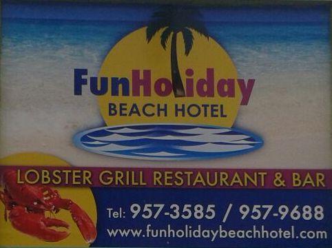 fun holiday beach resort logo