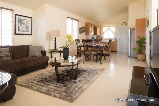 House For Sale In Jamaica : Gore Development Model Unit Living Room