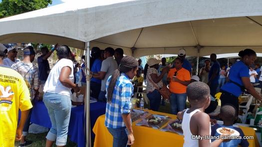 international_coastal_cleanup_day_jamaica_after_work_food