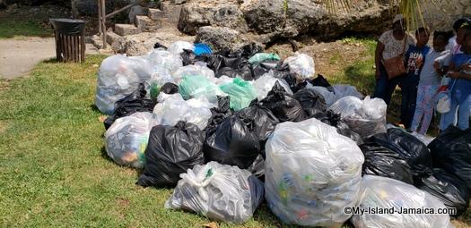international_coastal_cleanup_day_jamaica_bags_of_garbage
