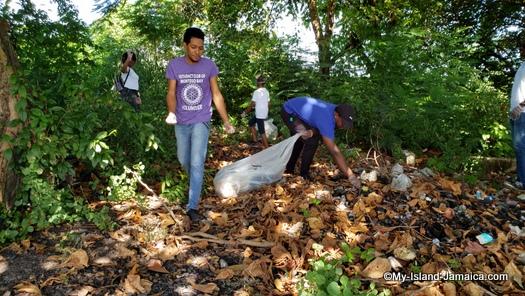 international_coastal_cleanup_day_jamaica_burned_debris
