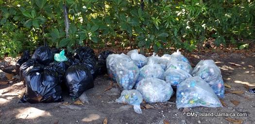 international_coastal_cleanup_day_jamaica_debris_seperated