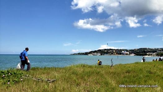 international_coastal_cleanup_day_jamaica_man_on_beach
