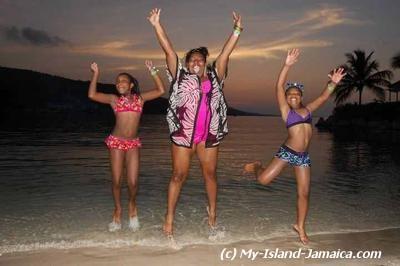 Jamaican Beach Ladies Photo