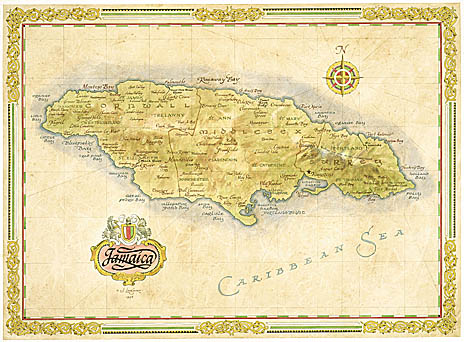 jamaica_antiques_old_map