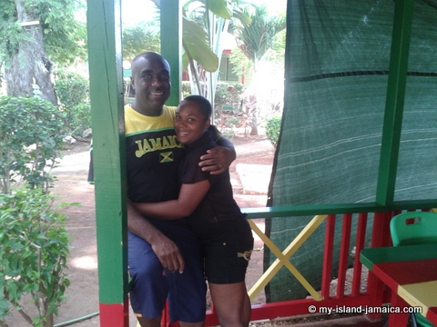 wellesley and wife hugging