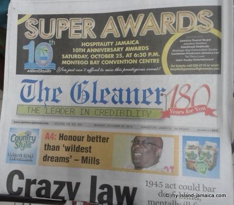 jamaica_gleaner_newspaper_hard_copy