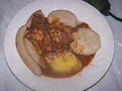 brown stew chicken with dumplings