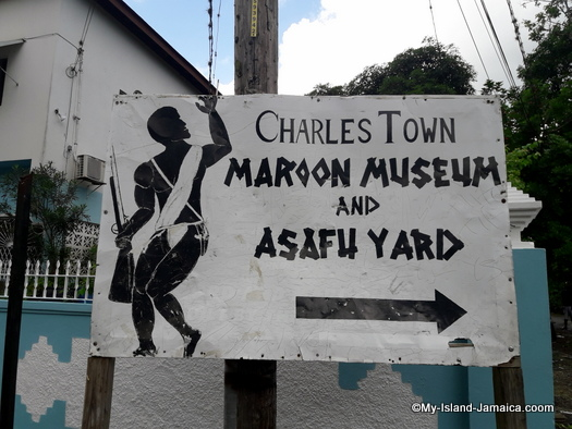 charlestown maroons directional sign