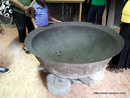 Jamaican old sugar boiler pot