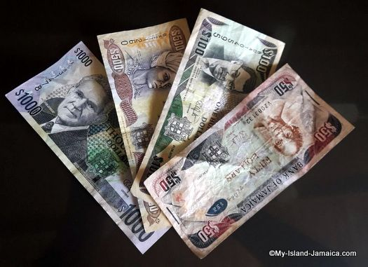 jamaica currency - denominations