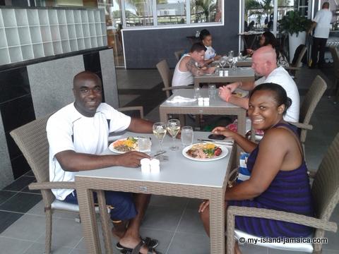lunch at riu palace jamaiaca