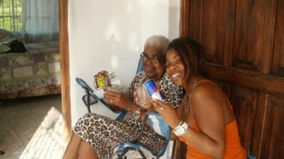 Me and My Mamma in Westmoreland Jamaica