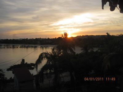 Morning sun at fisherman's point in Ocho Rios!