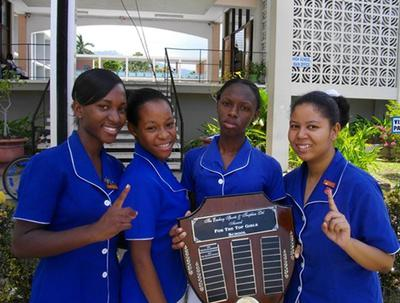 Immaculate Conception High (2011-2012 Quarter-Finals Schools' Challenge Quiz Team - Website Photo)