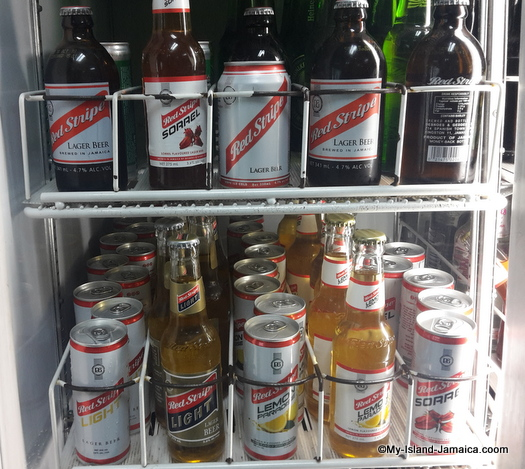 jamaican drinks -red stripe beer