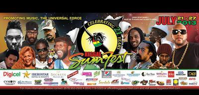 Reggae Sumfest 2013 LineUp & Sponsors