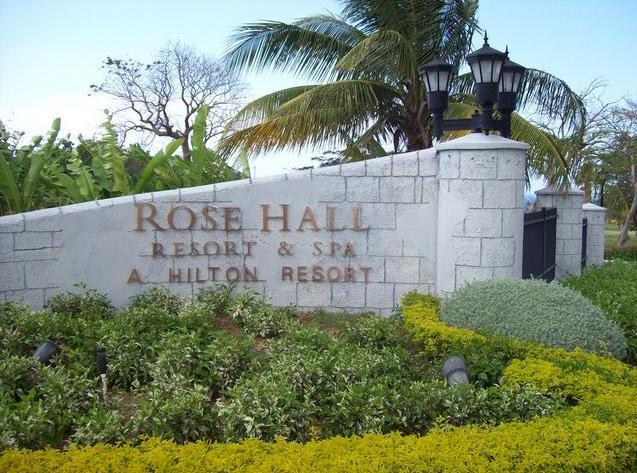 Rose Hall Resort Jamaica - Road Sign