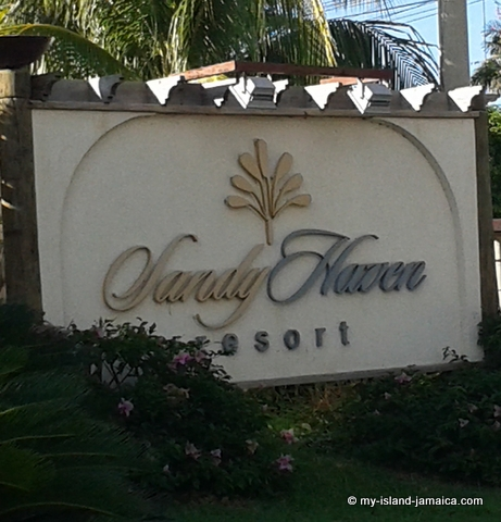 Welcome Sign At Sandy Haven Resort
