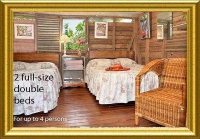 Largest Original Cabin Inside- Sleeps 4