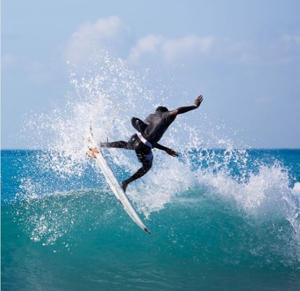 Surfing at Bull Bay in St. Thomas, Jamaica