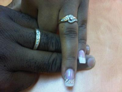 Our Ring Fingers! Taken the day after.