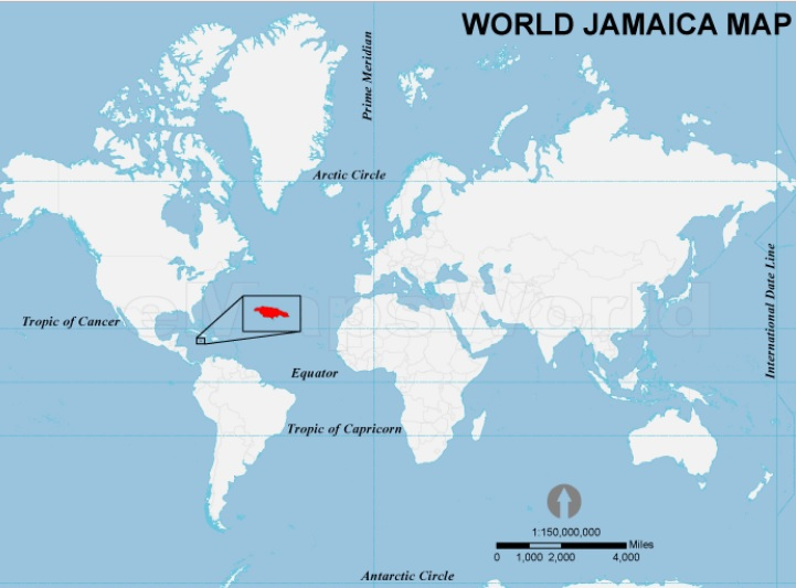 what continent is jamaica in